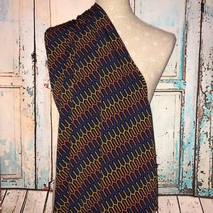 LULAROE~Multicolor Print MAXI A-line Skirt~S
